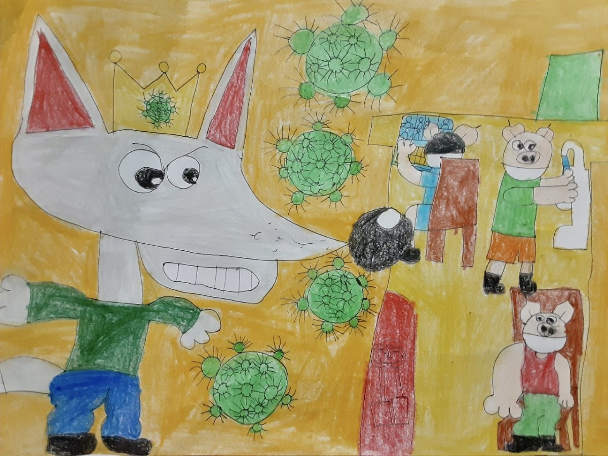 Children honor Covid-19 frontliners with paintings