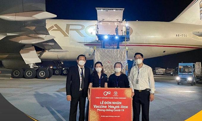 1 mln Hayat-Vax Covid-19 vaccine doses land in Vietnam