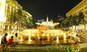 Saigon pedestrian plaza regains vibrancy as restrictions eased