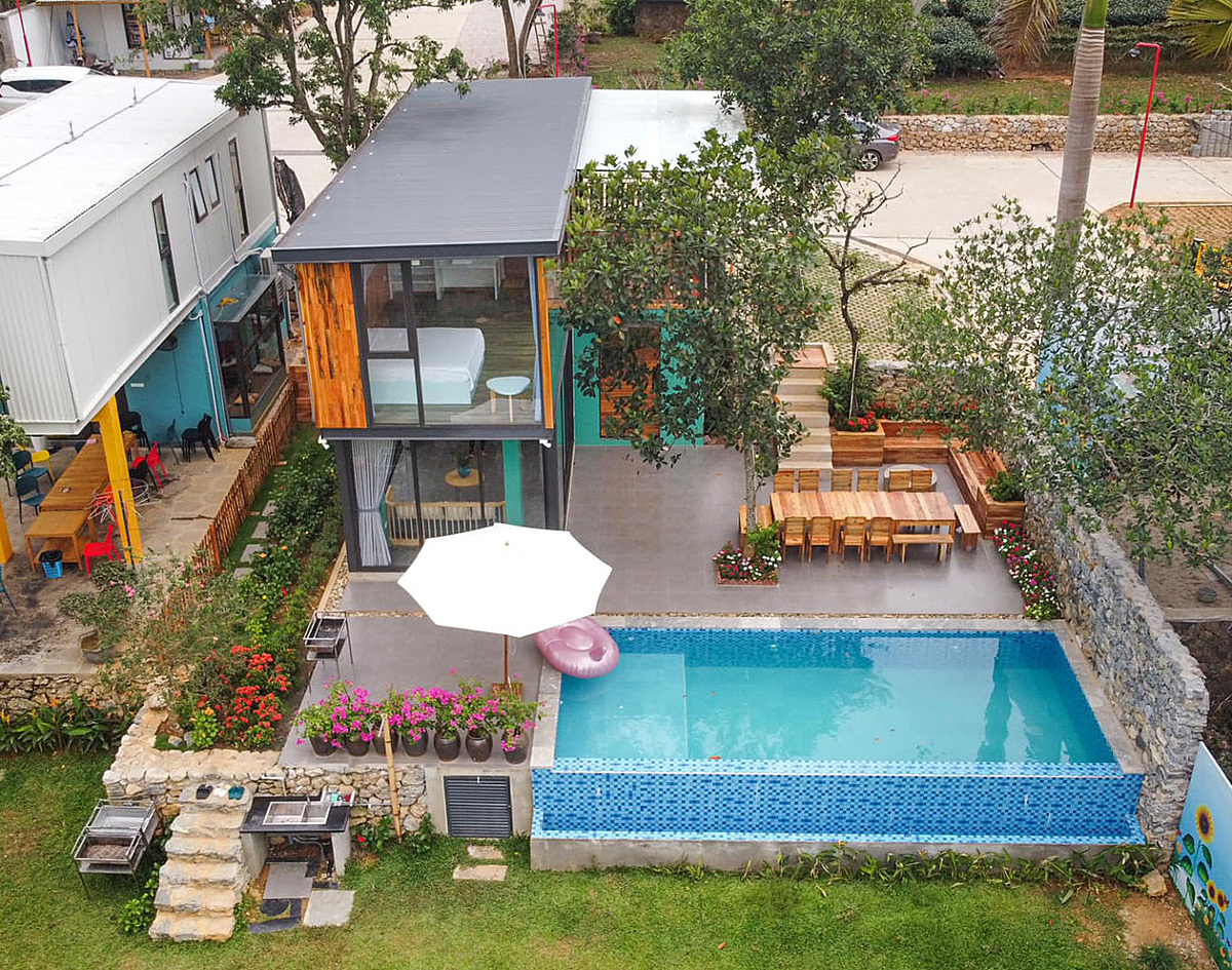Overview of Nguyen Thi Thanhs homestay that was completed in June 2020. Photo courtesy of Thanh