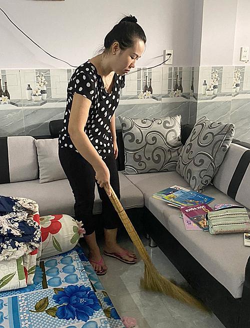 Vo Thi Ngoc Ha in her home. Photo courtesy of Ha
