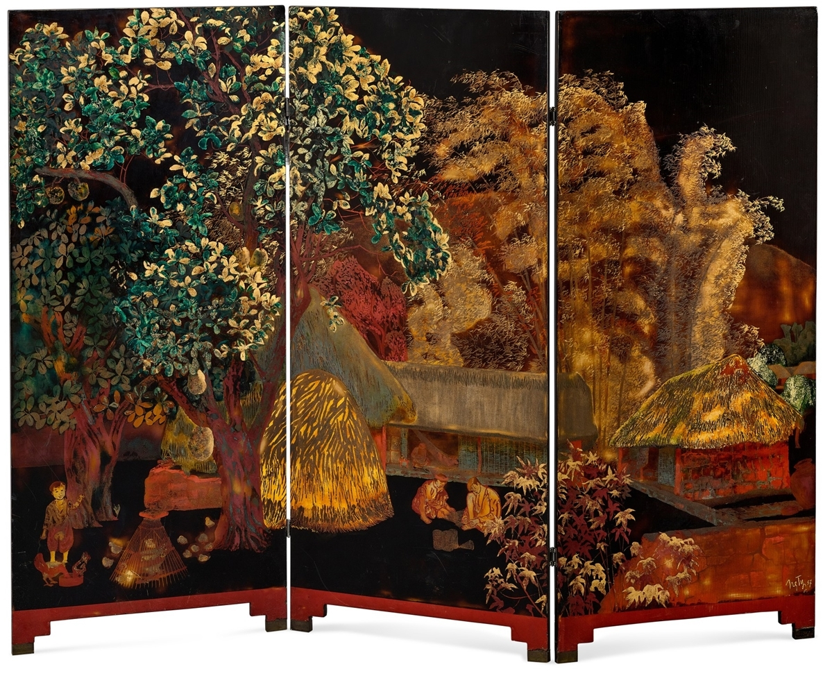 The Limage traditionnelle dune maison de paysan lacquer on Sotherbys Hong Kong website. Photo courtesy of the auction house