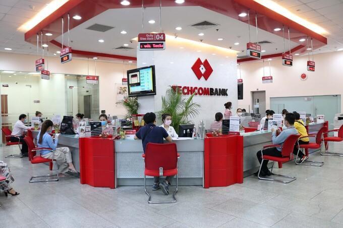 Inside a Techcombank branch. Photo courtesy of Techcombank.