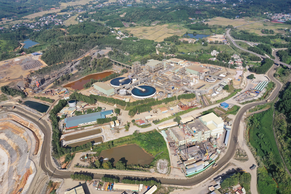 The Nui Phao polymetallic-tungsten mine in Dai Tu District, Thai Nguyen Province,