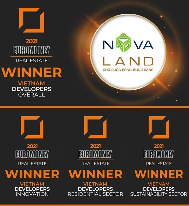 Novaland receives excellent real estate developer award.
