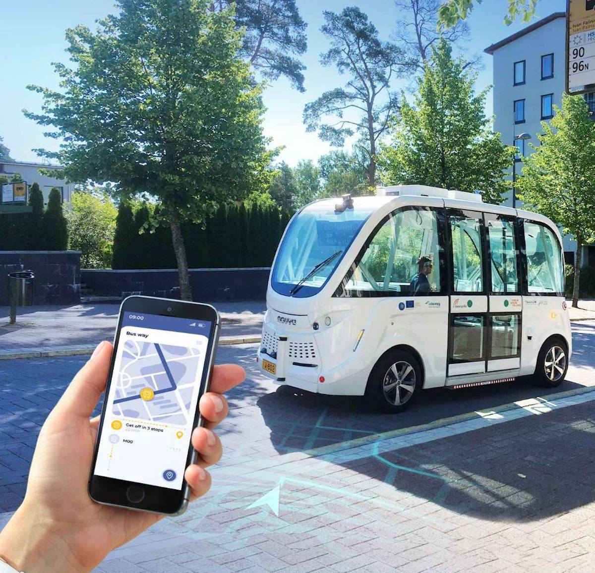 The project adopts autonomous buses developed by Qualcomm.