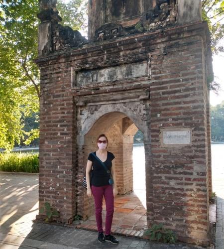 Munday is at Hoan Kiem lake, Hanoi, in October 2021. Photo courtesy of Munday.