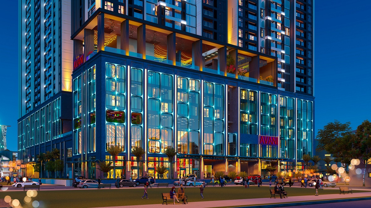 the 5-star standard Avani Saigon hotel, located right in the projects podium